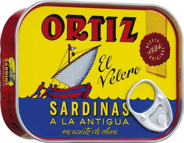סרדינים בשמן זית פחית אורטיז