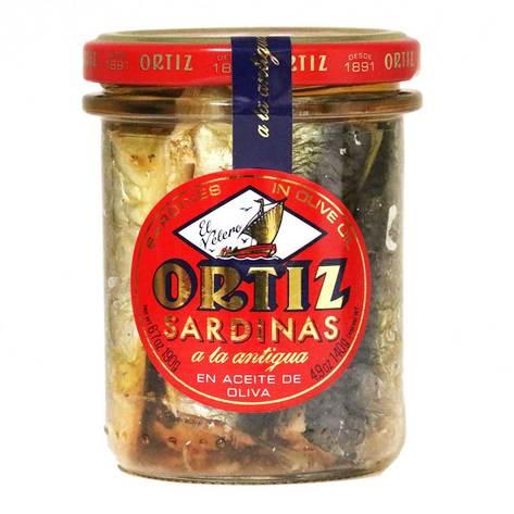 סרדינים בשמן זית צנצנת אורטיז