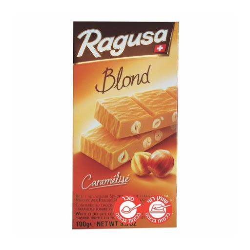 שוקולד רגוזה בלונד לבן טרפל מקורמל