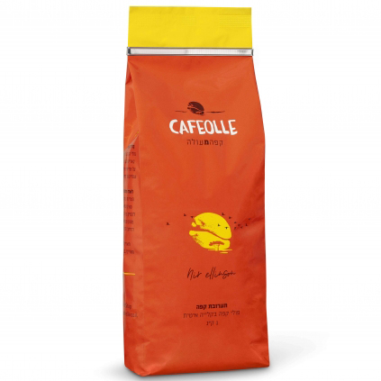 פולי קפה 70% ערביקה קילו לא טחון