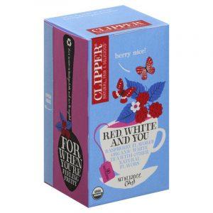 תה לבן עם פטל קליפר'ס