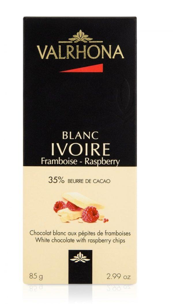 שוקולד ולרונה שוקולד לבן עם פטל